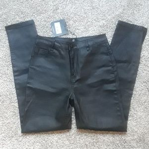 MISSGUIDED High waisted coat black jeans